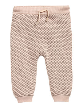textured-knit-pants by h&m