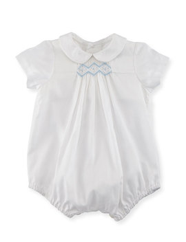 bubble-playsuit-w_-embroidery,-size-3-9-months by luli-&-me