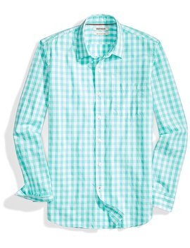 goodthreads-mens-slim-fit-long-sleeve-large-scale-gingham-shirt by goodthreads