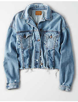 ae-raw-hem-denim-jacket by american-eagle-outfitters