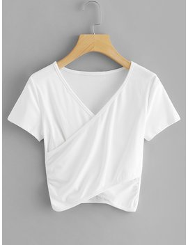 v-neck-wrap-tee by romwe