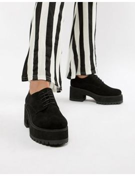 asos-design-twisted-chunky-lace-up-shoes by asos-design
