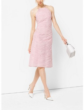 Ribbon Embroidered Organza Dress by Michael Kors Collection