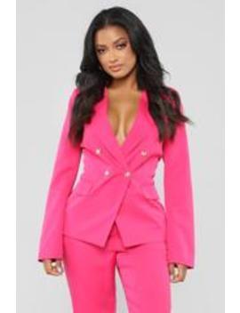 give-me-something-to-do-blazer---fuchsia by fashion-nova