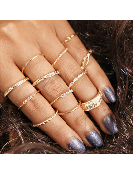 12-pc_set-charm-gold-color-midi-finger-ring-set-for-women-vintage-boho-knuckle-party-rings-punk-jewelry-gift-for-girl by yimloi-jewelry