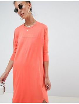 asos-tall-oversize-t-shirt-dress-with-seam-detail by asos-design