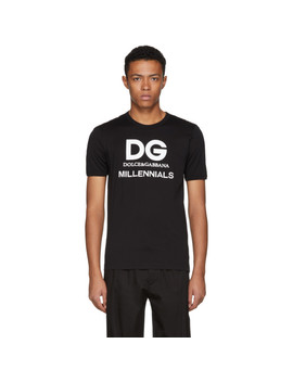 black-millennials-logo-t-shirt by dolce-&-gabbana