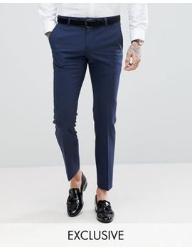 noose-&-monkey-super-skinny-wool-mix-suit-trousers-in-navy by noose-&-monkey