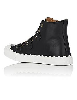 kyle-studded-leather-sneakers by chloé