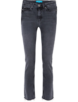 daily-frayed-high-rise-straight-leg-jeans by mih-jeans