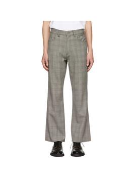 grey-glen-plaid-flared-trousers by christian-dada