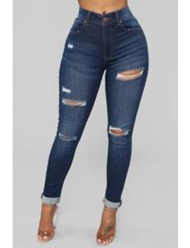 layla-high-waist-distressed-jeans---dark-denim by fashion-nova