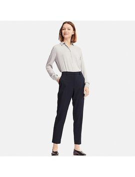 Women Ezy Ankle Length Trousers by Uniqlo