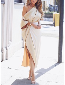 one-shoulder-wrap-side-slit-maxi-dress by ivrose