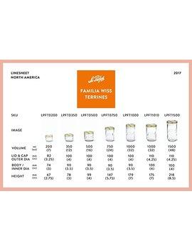 4-le-parfait-familia-wiss-terrines---wide-mouth-french-glass-mason-jars---zero-waste-packaging-(4,-1000ml---32oz---quart,-110mm) by le-parfait