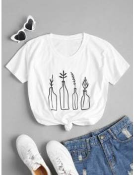 bottle-plant--graphic-oversized-tee---white-m by zaful