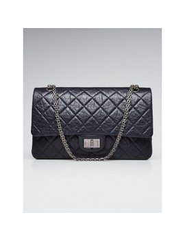black-255-reissue-quilted-classic-calfskin-leather-227-jumbo-flap-bag by chanel