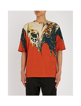 marble-patterned-cotton-jersey-t-shirt by dries-van-noten