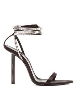 tower-crystal-embellished-satin-sandals by saint-laurent