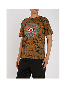 eye-print-cotton-jersey-t-shirt by dries-van-noten