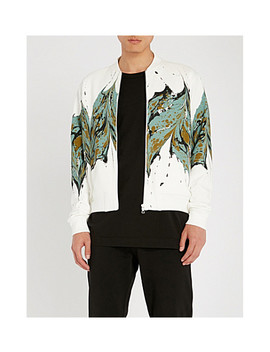 marble-print-bomber-jacket by dries-van-noten