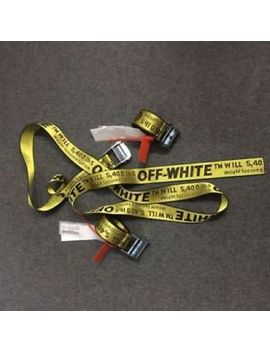 New Off White Tie Down Yellow Nylon Cotton Big Iron Head Industrial Belt 200 Cm by Off White