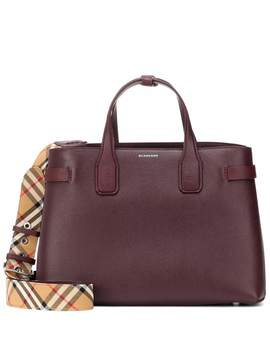 banner-medium-leather-tote by burberry