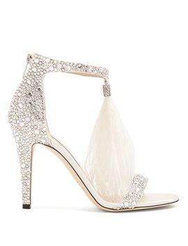 viola-100-crystal-embellished-suede-sandals by jimmy-choo