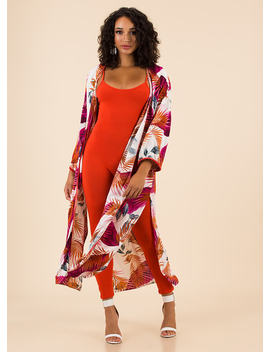 vacay-for-one-tropical-leaf-print-duster by gojane