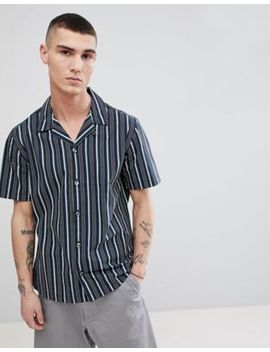 mango-man-striped-shirt-with-revere-collar-in-green by mango