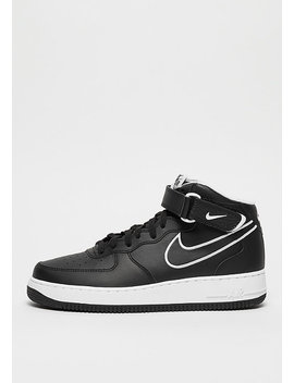 air-force-1-mid-07-leather-black_white by nike