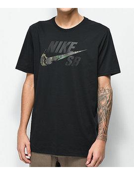 nike-sb-dry-camo-black-t-shirt by nike-sb
