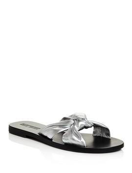womens-paradise-metallic-leather-slide-sandals by sol-sana