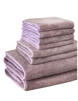 solid-bath-towel-set-8pcs by sheinside