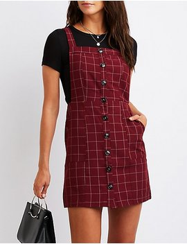 Windowpane Button Up Jumper by Charlotte Russe