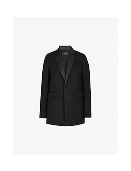 jan-satin-lapel-woven-jacket by joseph