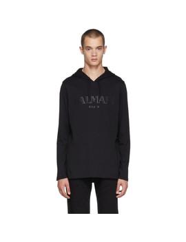 black-logo-hoodie by balmain