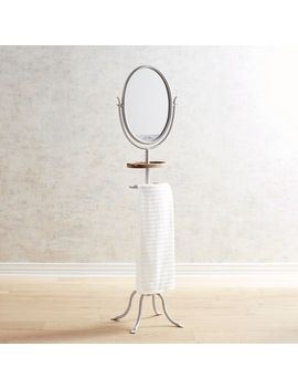gray-towel-rack-with-mirror by le-bain-collection