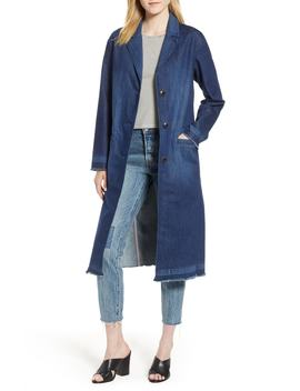 denim-washed-long-peacoat by levis®
