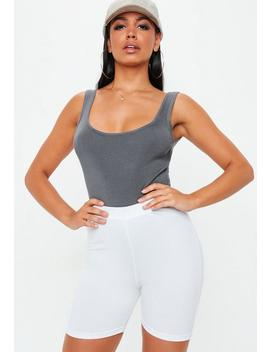 grey-scoop-neck-ribbed-high-leg-knitted-bodysuit by missguided