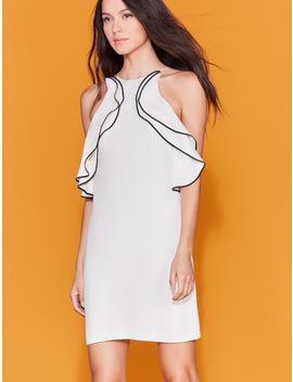high-neck-ruffle-dress by halston