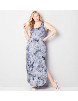 tie-dye-criss-cross-maxi-dress by avenue