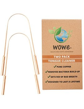 tongue-scraper-cleaner-(2-pack)---pure-copper-metal---get-rid-of-bacteria-and-bad-breath---by-wowe-lifestyle-products-(copper) by wowe