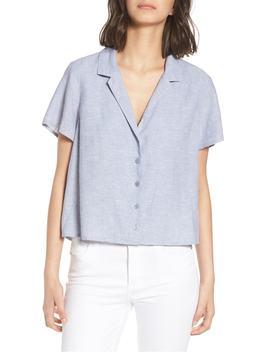linen-blend-camp-shirt by bp