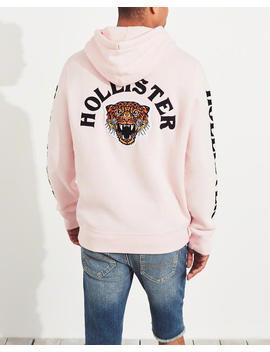 leopard-applique-hoodie by hollister