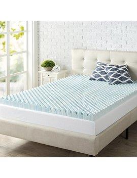 zinus-3-inch-swirl-gel-memory-foam-air-flow-topper,-full by zinus