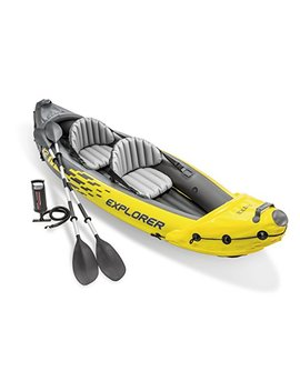 intex-explorer-k2-kayak,-2-person-inflatable-kayak-set-with-aluminum-oars-and-high-output-air-pump by amazon