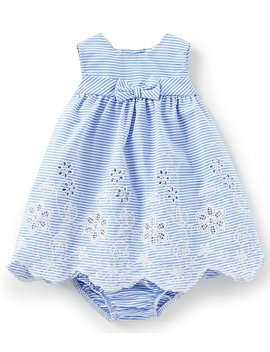 bonnie-baby-baby-girls-newborn-24-months-striped-a-line-dress by generic