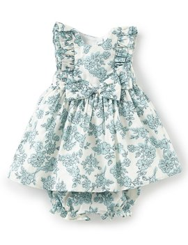 London Baby Girl Newborn 24 Months Ruffle Trimmed Fit And Flare Dress by Generic