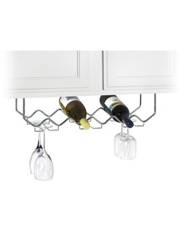 useful-uh-gb186-under-cabinet-stemware-holder-and-wine-rack---holds-6-bottles_6-stems---chrome by useful